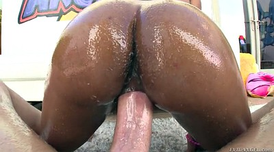 Oil, Brittney, Big black cock, Black on white