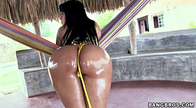 Oil, Bikini ass, Colombian