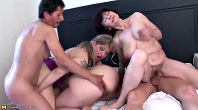 Big mom, Young mom, Sharing, Young one, Granny group, Granny gangbang
