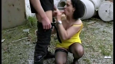 Outdoor, Mature gangbang