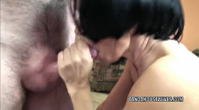 Mature swallow, Housewife, Mature blowjob
