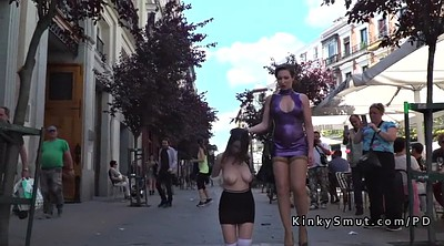 Slave, Busty, Street, Slaves, Walk