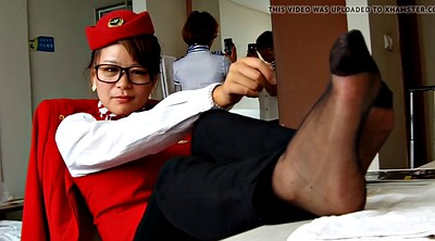 Nylon feet, Asian feet, Asian foot, Feet show