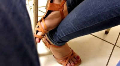 Classroom, Red, Sandals
