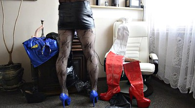 Pantyhose, High boots, Gay pantyhose