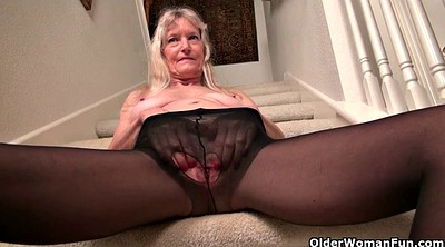 Mature pantyhose, Stairs, Claire, Mature nylon