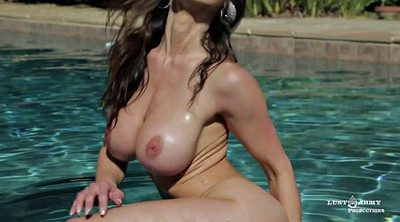 Tit, Chubby solo, Solo fingering, Solo babes, In the pool