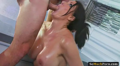 Reagan, Reagan foxx, Huge cock, Shower room