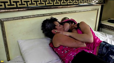 Mature lesbian, Young girl, Teen old, Fucking mom