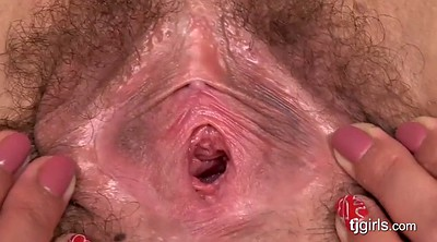 Hairy solo, Pussy gape