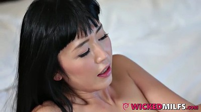 Daughter, Asian mom, Open pussy