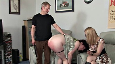 Aunt, Uncle, Spanking girls, Spanking girl
