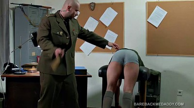 Soldier, Leather, Gay spank