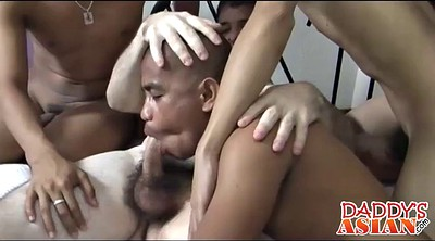 Asian daddy, Group asian, Three gay, Asian daddies, Tricked, Asian three