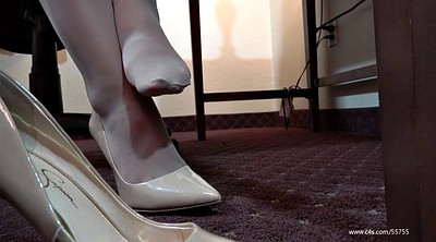 Pantyhose, Pantyhose feet, Shoeplay, Laura