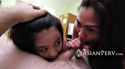 Asian, Amateur threesome