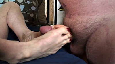 Mature foot, Mature feet, Feet job