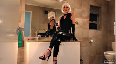 Latex, Dominatrix, Latex bondage, Humiliation cuckold