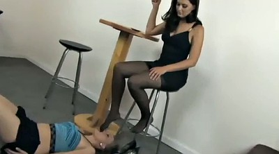 Lesbian foot, Mistress, Foot worship, Nylon feet