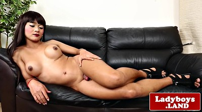 Ladyboy, Spreading, Spread, Cute asian, Big tits striptease