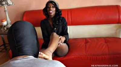 Feet worship, Mistress slave, Black slave