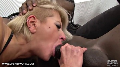 Throat, Mature interracial anal