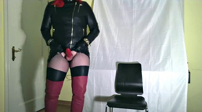 Milking, Glove, Gloves, Leather, Gay milk, Black gloves