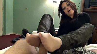 Nylon feet, Footjob nylon