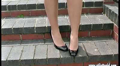 High heels, Nylon foot, High-heeled