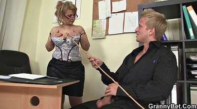 Granny, Old, Mature wife, Office mature