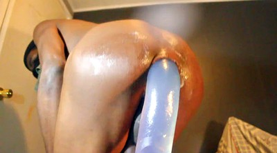 Black, Black gay, Farting, Farts, Ride dildo, Gay gape