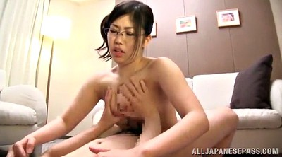 Glasses, Asian handjob, Asian tits