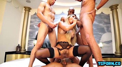 Shemale threesome, Shemale gangbang, Gangbang amateur, Shemale cumshot