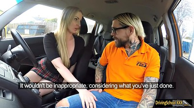 Fake, Georgie lyall, Georgie, Car blowjob, Instructor