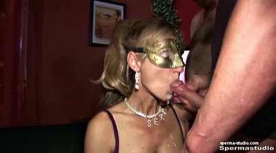 Cum in mouth, Hardcore gangbang