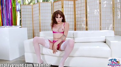 Stockings, Shemale cumshot, Shemales fucking, Shemale lingerie