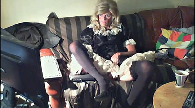 Crossdresser, Pantyhose mature, Dress, Crossdress, Mature pantyhose, Mature solo