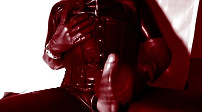 Gloves, Leather, Crossdress, Latex shemale, Glove
