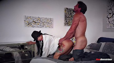 Gina, Latina doggy fucking brunette