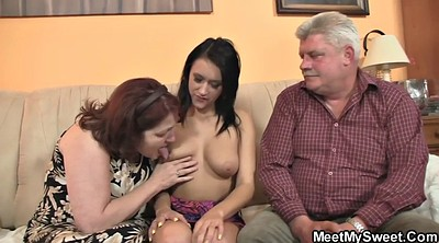 Old couple, Mature threesome
