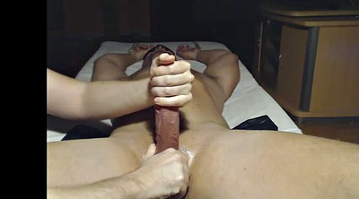 Milk, Post, Edging, Amateur handjob