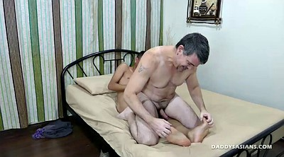 Feet, Ass licking, Old asian, Gay asian, Screaming, Asian interracial