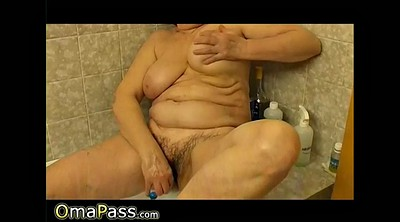 Granny, Bathroom, Solo granny, Solo compilation, Mature bathroom