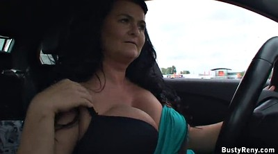 Breast, Car, Czech car, Breasting, Granny big tits, Big milf
