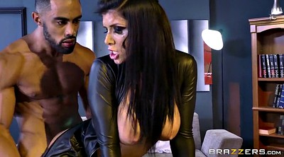 Glove, Gloves, Romi rain, Office busty, Black leather, Assassin
