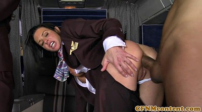 Uniform, Stewardess, Panties fucking, Guy, Panty fuck