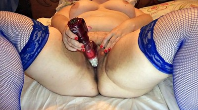 Blue stock, Bbw wife