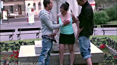 Sex in public, In front of, Gangbang girl, Front
