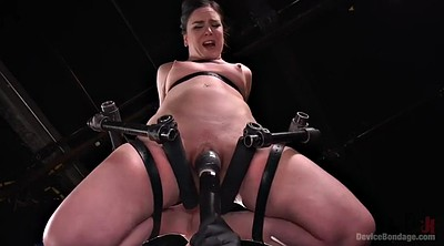 Forced, Force, Lock, Forcing, Cum in, Brunette bondage