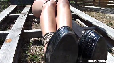 Outdoors bondage, Bound